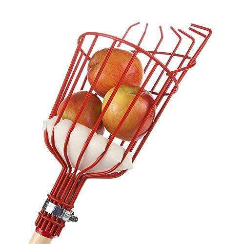 Pratique Extérieur en aluminium Panier profond Outils de jardin Fournitures Fruits Catcher récolte la cueillette des fruits Picker Head fruits en métal outils de crochetage décoratif