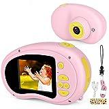Micoke Cámara Digital para Niños Camara de Fotos con Pantalla de 1080P Juguetes para Niños de 3-12 Años Niños Regalos Cumpleaños Navidad Rosa