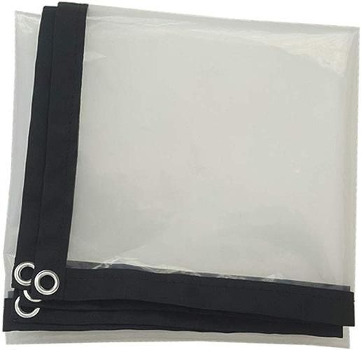 Tente Transparente CHAOYU Bache Transparent épaississant Liseret Plastique poreux bache imperméable fenêtre Balcon Culture de Serre Film (Couleur   A, Taille   2x6m)
