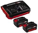 Einhell Original Starter Kit 2x 4 Ah batería y Twincharger Power X-Change (iones de...