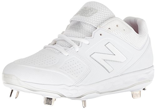 New Balance Women's Velo V1 Metal Softball Shoe, White/White, 8.5 B US