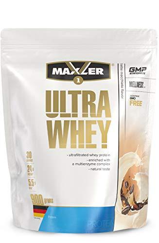 Maxler Ultra Whey Protein Pulver - Natürlich schmeckendes Protein Whey - Eiweiß Shake für Muskelaufbau, Wiederherstellung, Pre Workout & Post Workout - Whey Protein Kaffee - 900 g