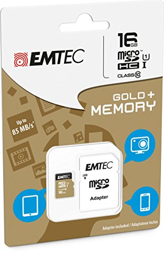 16GB Speicherkarte für Wiko Rainbow Jam 4g–Micro SD Class 10+ SD Adapter–EMTEC