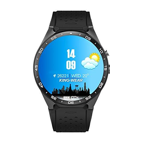 Orologio intelligente Bluetooth con slot per schede SIM, Wifi e funzione musicale Funzione/Fitness Sport Watch supporta cardiofrequenzimetro, fotocamera 2.0M e GPS per tutti iOS e Android