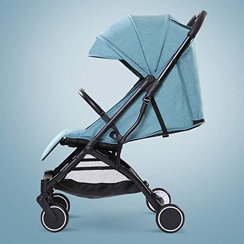 HELIn Cochecito liviano: carrito de seguridad para niños, a prueba de viento, seguro y transpirable Toldo de canasta de almacenamiento de gran tamaño para niños de 0 a 6 años