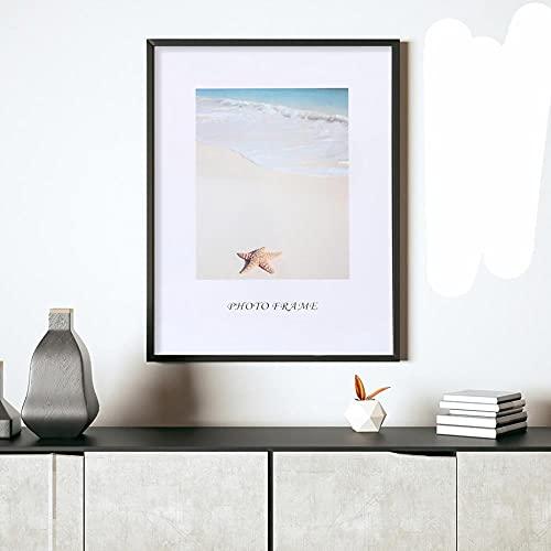 Marco de póster Imágenes Foto Blanco Negro Horizontal Formatos verticales Metal Plexiglás Lienzo mate Pintura Arte de la pared Decoración para el hogar-Francia, Marco negro, 40x50cm