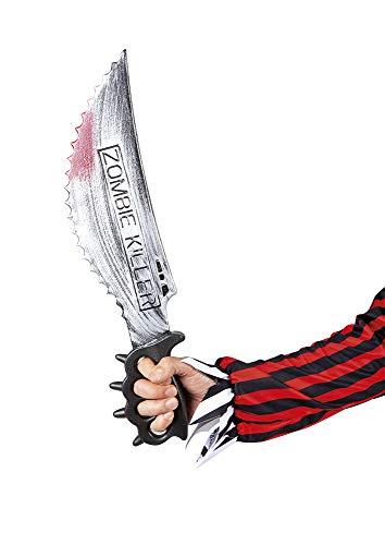 Rubies Cuchillo Zombie Killer 50 Cm Complementos, Multicolor, STD Unisex Adulto