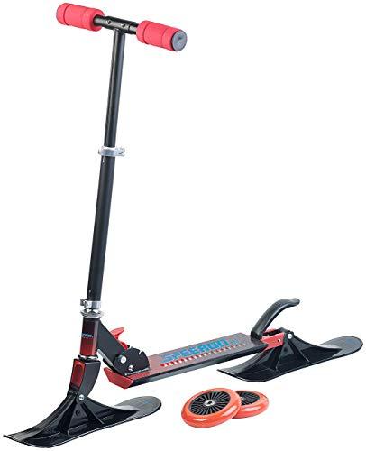 Speeron Roller: Klappbarer 2in1-Tretroller und -Snowkick-Schlitten für Kinder, 125 mm (Scooter)