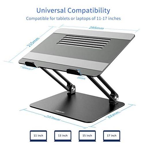 NILLKIN Soporte portátil, Ajustable Laptop Stand Aluminio Soporte ventilado para portátil para MacBook, Surface y Otras… 5