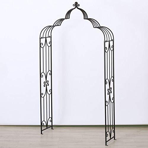 Rosenbogen Maja, H 230 cm, Metall, Schwarz Sortierung: 1 sort.; Metallart: Eisen; Länge Artikel: 120 cm; Breite Artikel: 38 cm; Höhe Artikel: 230 cm;