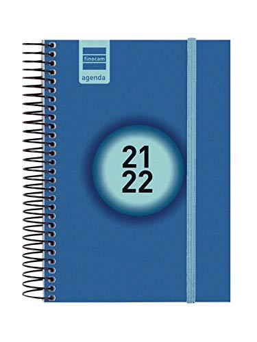 Finocam Agenda 2021 2022 1 Día página Septiembre 2021, Junio 2022 10 meses y Julio/Agosto resumidos 8º, 120x164 Secundaria Azul Euskera