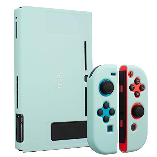 Insten Dockable Case Compatible with Nintendo Switch, Protective Hard Case Cover Compatible with Nintendo Switch Console and Joycon Controllers, Matcha Green
