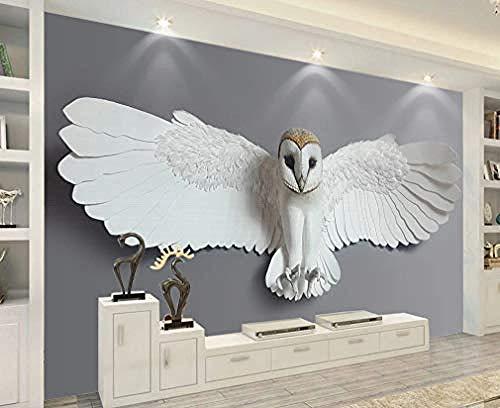 XHXI Moderne Tapete 3D Eule DIY Wohnzimmer Schlafzimmer Wandbild Home Decoration Tv Nachttisch Kunst Hintergrund Wandaufkleber fototapete 3d Tapete effekt Vlies wandbild Schlafzimmer-200cm×140cm
