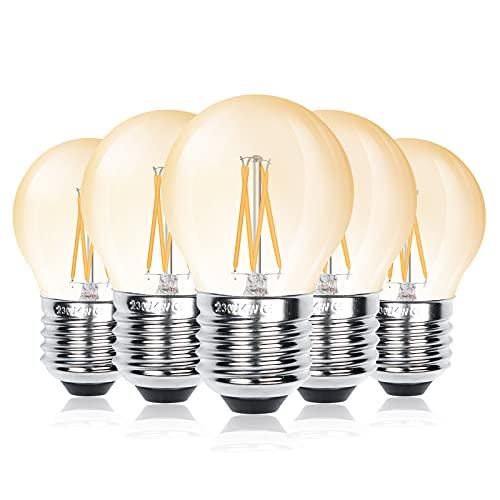 Bonlux Lampadina LED B22 G45 Dimmerabile, G45 Lampadina a LED Luce Bianca Calda 2700K 400Lm, 4W Equivalenti a 40W, B22 Lampadine Baionetta G45 Forma Sfera Risparmio Energetico(Confezione da 6)