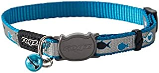 ROGZ Catz ReflectoCat Collar, Extra Small, Blue