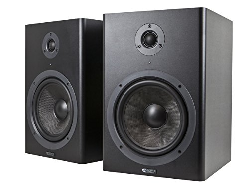 Monoprice Stage Right 8-inch Powered Studio Multimedia Monitor Speakers (pair) - (605800)