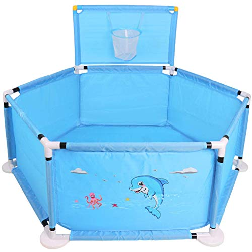 ZTMN Baby Playyard Tents Infant Playpens Safety Household Clôture de Protection Kids Baby Activity Center Indoor Outdoor (Couleur: Bleu)