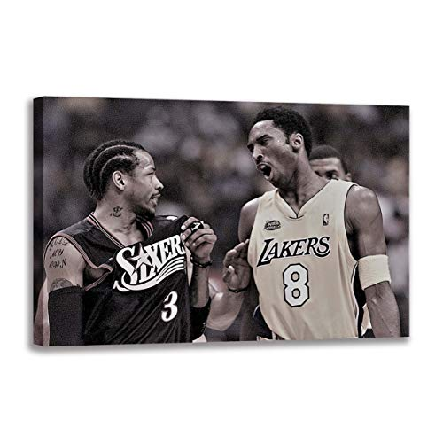 WALKKING WAYS Canvas Painting Wall Art Kobe Bryant The Los Angeles Lakers for Living Room Decoration Home Décor Posters and Prints Wall Pictures (Framed,50x70 cm) image
