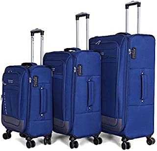 Giordano Luggage Trolley Bags For Unisex 3 Pcs, Blue, 744013