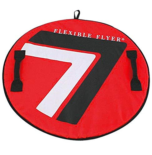 "Flexible Flyer Soft 3-Layer Snow Saucer Sled. 26"" Round SNO Disc Slider"