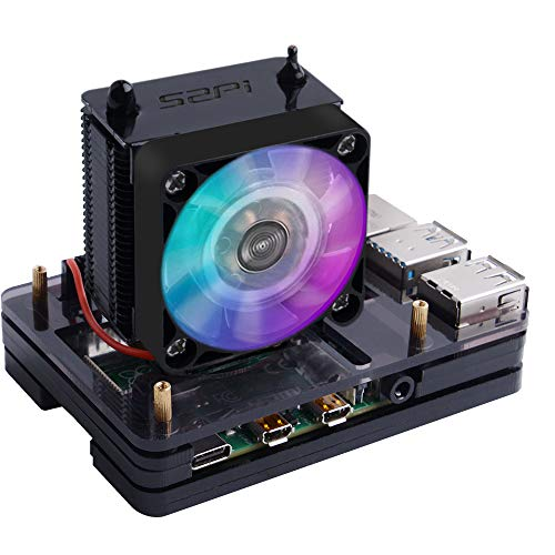 of raspberry pis dec 2021 theres one clear winner GeeekPi Raspberry Pi 4 Case with Raspberry Pi ICE Tower Fan RGB Cooling Fan, Raspberry Pi 4 Case with Fan Raspberry Pi Heatsink Raspberry Pi Fan Raspberry Pi Case for Raspberry Pi 4 Model B