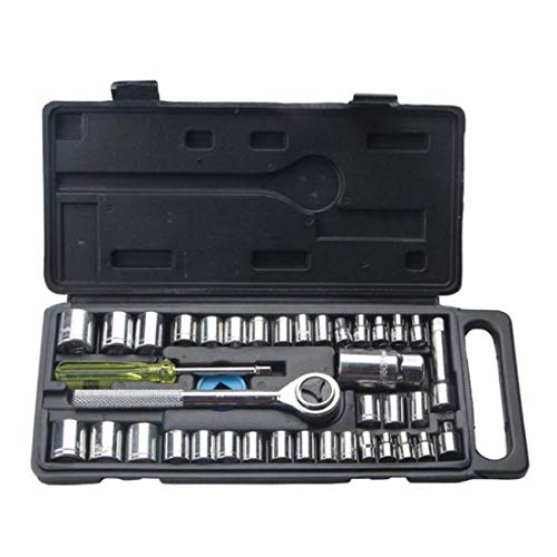 IGOSAIT Flexibility Socket Set Tool Household Hardware Auto Repair Tool Socket Wrench Hardware Tool Sleeve Set (Color : Black) Durable