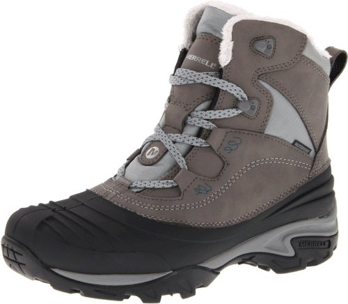 Merrell Women's Snowbound Mid Waterproof Winter Boot,Charcoal,8 M US