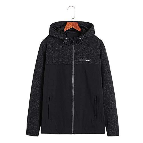 Plus Size 8XL Patchwork Color Block Pullover KapuzenjackenFrühling Herbst Herbst ReißverschlussTrainingsanzug Lässige JackenMäntel Hip Hop Männliche Streetwear