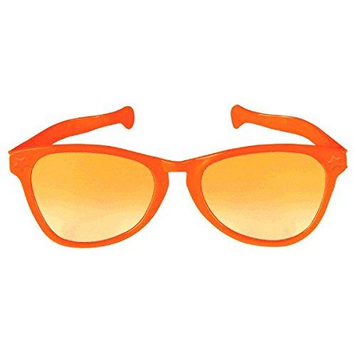 Orange Jumbo Eyeglasses, Party Accessory