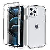 ZhuoFan Funda para iPhone 7 / iPhone 8 Dibujos 360 Grados Antigolpes TPU Silicona Bumper + Transparent PC Dura, con Protector de Pantalla Ultrafina Carcasa para iPhone 8/7 4,7' - Transparente