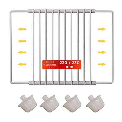 Abstellboden Ablagerost Zusatzgitter von 23 bis 40 cm Kühlschrankgitter Ablagefach Einlegeboden für Kühlschrank