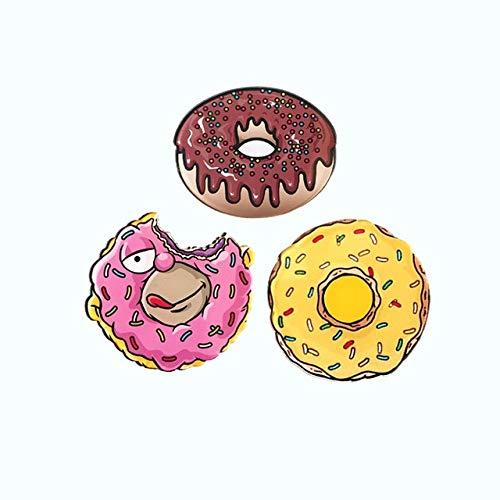 Donut Kaffee Käse Kuchen Wurst Toast Acryl Brosche benutzerdefinierte Hut Schal Anstecknadeln für Frauen Schmuck Abzeichen Geschenk-Yj (54-56)