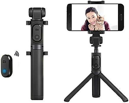 Palo Selfie, Xiaomi Móvil Palo Selfie Trípode Bluetooth con Wireless Remoter, 360 ° Rotación Extensible Palo Selfie Trípode para Pantalla de 3.5-6 pulgadas, Xiaomi Huawei, iPhone, Smasung (Negro)