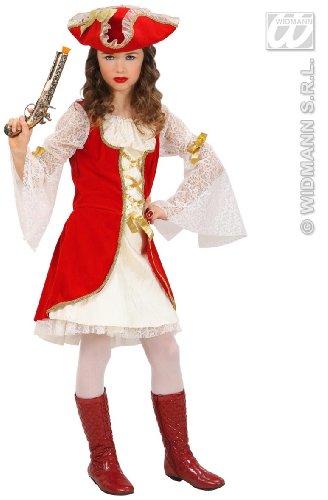 Widmann wdm58798 ? Costume pour Enfant Capitaine Pirate/11 ? 13 ans (158 cm), blanc, S