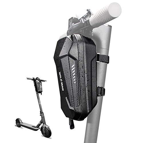 FCREW Bolsa para scooter, bolsa frontal tubular, bolsa grande para manillar, impermeable,...