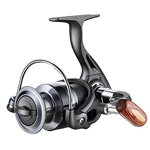 LQJin Metal al Aire Libre de la Pesca de Giro del Carrete 12BB 5,2: 1 relación de Velocidad atraer a los Peces línea de carretes de Carrete de Ruedas Fish Tackle Pesca Herramientas