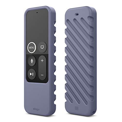 elago R3 Fernbedienung Hülle Case Kompatibel mit Apple TV Siri Remote 4K (5.) / 4. Generation Schutzhülle - Extra Schutz, Handgelenkschlaufe Inbegriffen (Lavendelgrau)