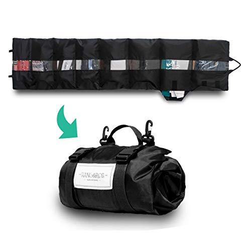 HANG&ROLL - Reiseorganiser | Packsystem | Kleidungsaufbewahrung | Zubehör | Kleidertasche | Packwürfel | Kleiderorganiser (Blau)