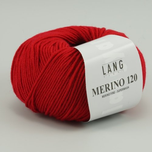Merino 120 Superwash 0160 feuerrot