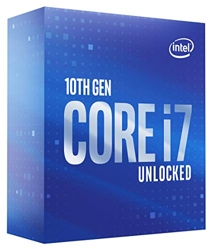 Processore Intel Core i7-10700K Desktop 8 core fino a 5,1 GHz Sbloccato LGA1200 (chipset Intel serie 400) 125W (BX8070110700K)
