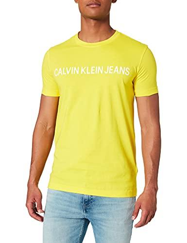 Calvin Klein Jeans Institutional Logo Slim SS tee Camiseta, Sol Brillante, XXL para Hombre