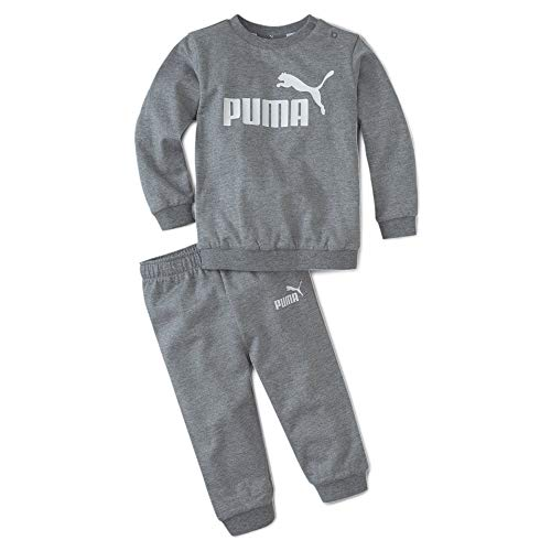 PUMA Minicats Crew Baby Jogginganzug Medium Gray Heather 92