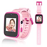 Biliqueen Kids Smart Watch for 4-12 Year Old Girls Toddler HD Dual Camera Smart Watch Multi-Function Touchscreen Smartwatch with Game Educational Toys USB Charging Best Girls Gifts Smartwatch for kids