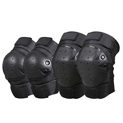 Knie Ellenbogen Knieprotektoren Knieschoner und Ellenbogenschützer für Fahrrad, MTB, Motorrad, Reiten, Skateboard-Fahrrad für Outdoor-Sport, Radfahren (1 Paar Knieschoner und Ellenbogenschützer)