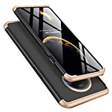 ISADENSER for OnePlus 7T Case OnePlus 7T Cover Slim 2 in 1 Shockproof 360°Full Body Front Back Hard PC Plastic Anti-Scratch Cover Compatible with Oneplus 7T 1+7t 2019,2IN1 PC - Gold + Black