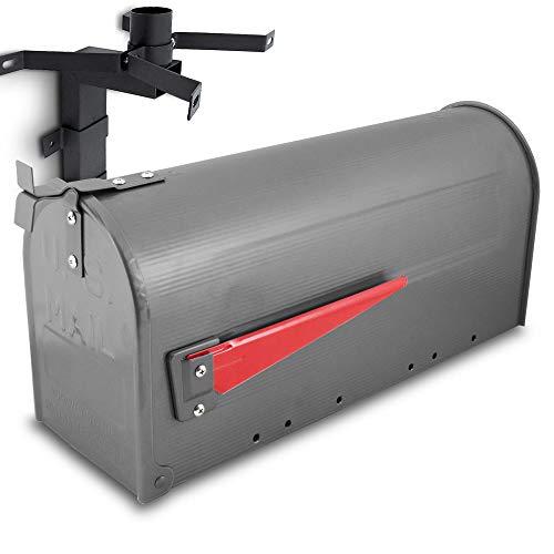 US Mailbox Amerikanischer Briefkasten Standbriefkasten Wandbriefkasten Letterbox Graphit Inclusive Wandhalter