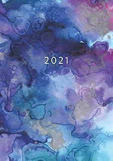 2021: Agenda Semainier A5   Planificateur Hebdomadaire Et Mensuel   1 Semaine Sur 2 Pages   Weekly Planner Scolaire Journa...