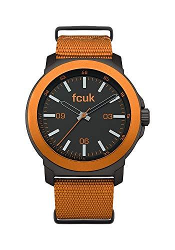 French Connection Herren Analog Quarz Uhr mit Nylon Armband FC1148O