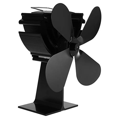 Surebuy Ventilador de Calor, sin Mantenimiento Ventilador de Estufa de Calor para Chimenea Ventilador de Calor Protección contra sobrecalentamiento para el hogar Chimenea de leña para Quemar leña