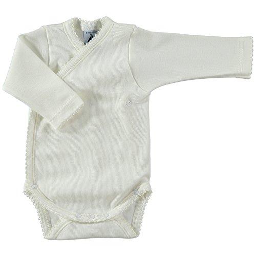 BABIDU Body Cruzado Basico Interlock, Beige (Beige 04), 56/62 (Tamaño del Fabricante: 1 Mes) Unisex bebé